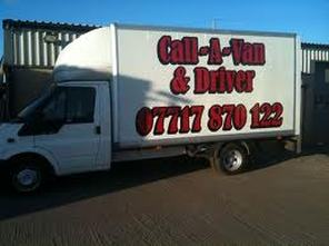Call-A-Van & Driver: contact Liam for your free quotation on 07717 870 122.